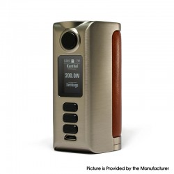 Authentic Dovpo Riva DNA250C 200W Box Mod - Silver-Plain Cognac, VW 1~200W, 2 x 18650, Evolv DNA250C chipset