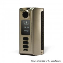 Authentic Dovpo Riva DNA250C 200W Box Mod - Silver-Rough Dark Brown, VW 1~200W, 2 x 18650, Evolv DNA250C chipset