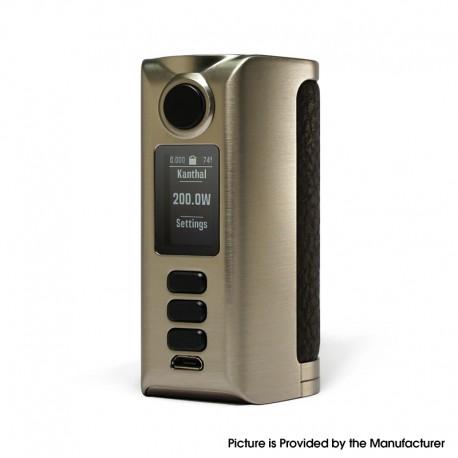Authentic Dovpo Riva DNA250C 200W Box Mod - Silver-Rough Dark Brown, VW 1~200W, 2 x 18650, Evolv DNA250C chipset