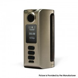 Authentic Dovpo Riva DNA250C 200W Box Mod - Silver-Vintage Brown, VW 1~200W, 2 x 18650, Evolv DNA250C chipset