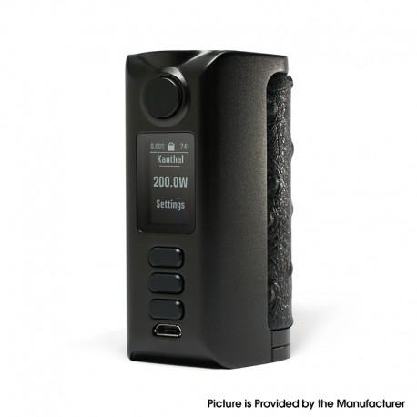Authentic Dovpo Riva DNA250C 200W Box Mod - Black-Birdy Black, VW 1~200W, 2 x 18650, Evolv DNA250C chipset