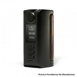 Authentic Dovpo Riva DNA250C 200W Box Mod - Black-Vintage Brown, VW 1~200W, 2 x 18650, Evolv DNA250C chipset