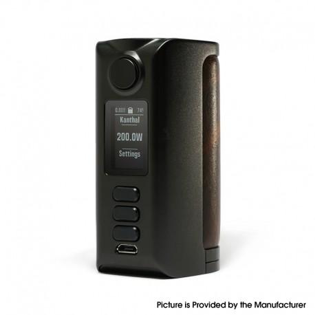 Authentic Dovpo Riva DNA250C 200W Box Mod - Black-Vintage Brown, VW 1~200W, 2 x 18650, Evolv DNA250C chipset