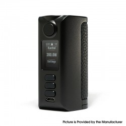 Authentic Dovpo Riva DNA250C 200W Box Mod - Black-Pure Black, VW 1~200W, 2 x 18650, Evolv DNA250C chipset