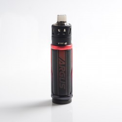 Authentic VOOPOO Argus Pro Pod System Vape Mod Kit - Litchi Leather Red, VW 5~80W, 3000mAh, 4.5ml, 0.15ohm / 0.3ohm