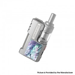 Authentic Digiflavor Z1 SBS Kit 80W VV VW Box Mod + Siren 3 GTA - Silver Gray Scallop Shell, 1 x 18650