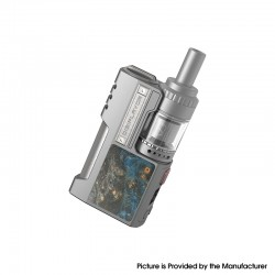 Authentic Digiflavor Z1 SBS Kit 80W VV VW Box Mod + Siren 3 GTA - Silver Gray Stabwood, 1 x 18650