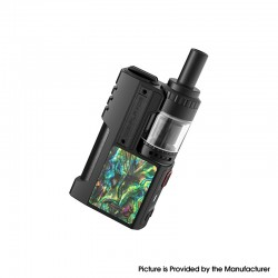 Authentic Digiflavor Z1 SBS Kit 80W VV VW Box Mod + Siren 3 GTA - Black Abalone Shell, 1 x 18650