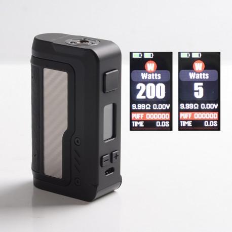 Authentic Vandy Vape Gaur-21 200W Dual 21700 Vape Box Mod - Carbon Fiber Silver, VW 5~200W, 2 x 18650 / 21700