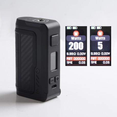 Authentic Vandy Vape Gaur-21 200W Dual 21700 Vape Box Mod - Carbon Fiber Black, VW 5~200W, 2 x 18650 / 21700