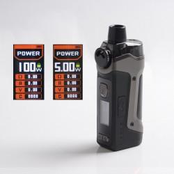 Authentic GeekVape Aegis Boost Pro 100W Pod System Vape Mod Kit - Gunmetal, VW 5~100W, 1 x 18650, 6.0ml, 0.2ohm / 0.4ohm