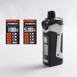 Authentic GeekVape Aegis Boost Pro 100W Pod System Vape Mod Kit - Silver, VW 5~100W, 1 x 18650, 6.0ml, 0.2ohm / 0.4ohm