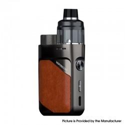 Authentic Vaporesso Swag PX80 Kit 80W Box Mod + Swag 4ml Pod Tank - Leather Brown, 5~80W, Axon Chip, 1 x 18650, 0.2ohm / 0.3ohm