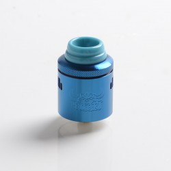 Authentic Hellvape Hellbeast RDA Rebuildable Dripping Vape Atomizer w/ BF Pin - Blue, Stainless Steel, 24mm Diameter