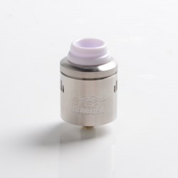 Authentic Hellvape Hellbeast RDA Rebuildable Dripping Vape Atomizer w/ BF Pin - SS, Stainless Steel, 24mm Diameter