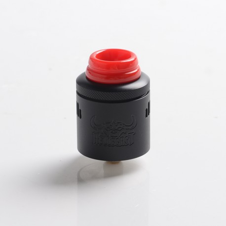 Authentic Hellvape Hellbeast RDA Rebuildable Dripping Vape Atomizer w/ BF Pin - Matte Full Black, Stainless Steel, 24mm Diameter