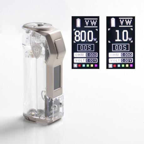 Authentic Rincoe Jellybox Mini 80W Box Mod - Full Clear, 1 x 18650 / 20700 / 21700, VW 1~80W, TC 200~600'F (100~315'C)