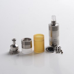 5AVape BY-kA V.9 V9 MTL RTA Rebuildable Tank Atomizer Full Kit w/ Nano Set + PEI Tank - Silver, 3.0ml / 5.0ml, 22mm Diameter