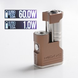 Authentic Aspire MIXX 60W VV VW Variable Wattage Vape Box Mod - Toffee, 1~60W, 1 x 18350 / 18650