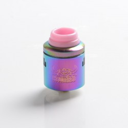 Authentic Hellvape Hellbeast RDA Rebuildable Dripping Vape Atomizer w/ BF Pin - Rainbow, Stainless Steel, 24mm Diameter
