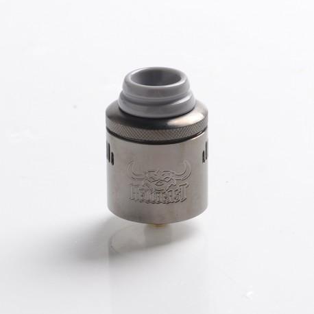 Authentic Hellvape Hellbeast RDA Rebuildable Dripping Vape Atomizer w/ BF Pin - Gun Metal, Stainless Steel, 24mm Diameter