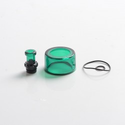 Authentic VXV Soulmate RTA Pod Replacement Tank Tube + 510 Drip Tip - Green + Black