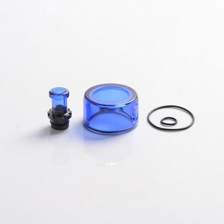 Authentic VXV Soulmate RTA Pod Replacement Tank Tube + 510 Drip Tip - Blue + Black