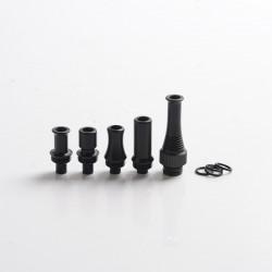 Authentic Auguse CG V2 510 Drip Tip kit for RBA / RTA / RDA Vape Atomizer - Matte Black, POM + SS (5 PCS)