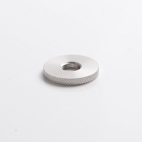 SXK Scud TT Style Box Mod Replacement knurl 510 Ring - Silver, Stainless Steel, Compatible with 22mm Atomizer