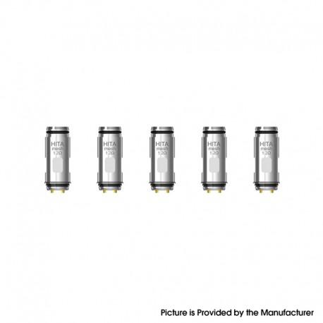 Authentic Asvape Hita 30W Kit / Hita Ink Kit Replacement Mesh Coil Head - Silver, 1.2ohm (5 PCS)