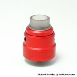 SXK ReLoad S Style RDA Rebuildable Dripping Vape Atomizer - Red, 316 Stainless Steel, 24mm Diameter, with BF Pin