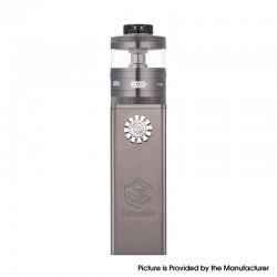 Authentic Steam Crave Aromamizer Titan V1.5 VV Box Mod + Titan V2 RDTA Combo Kit - Gun Metal, 0.1~8.4V, 4 x 18650, 20ml / 32ml