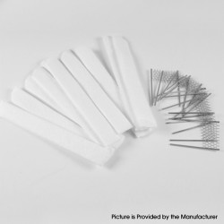 Authentic Vapefly Optima 80W Pod Mod Kit Replacement RMC Prebuilt Wire + Cotton - (10 Set)