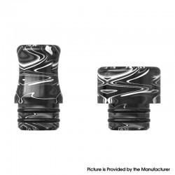 Authentic MECHLYFE x Fallout Vape XRP RTA Replacement 510 DL / MTL Drip Tip - Resin Black (2 PCS)