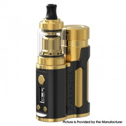 Authentic Mechlyfe x Fallout Vape x Mrjustright1 Paramour SBS Mod + XRP RTA Basic Kit - Black Gold, 5~80W, 3.5ml, 24mm Diameter