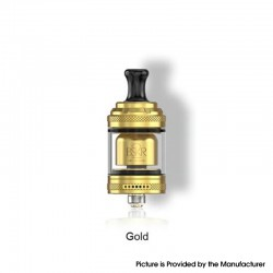Authentic Vandy Vape Berserker Mini V2 MTL RTA Vape Atomizer - Gold, 2.0 / 2.5ml, 22mm, Glass / PEI / Metal Tube