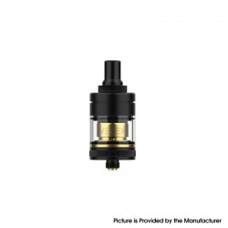 Authentic Hellvape Vertex MTL RTA Rebuildable Tank Vape Atomizer - Black Gold, 2.0ml / 3.5ml, 22mm Diameter
