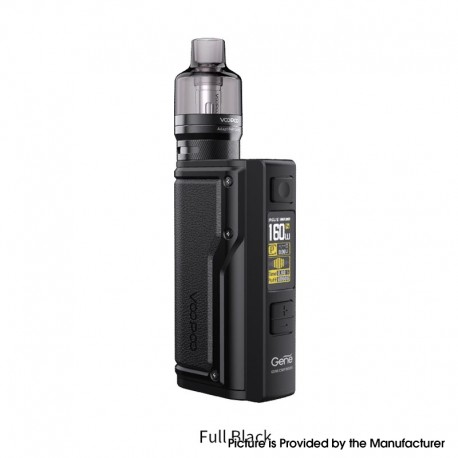 Authentic VOOPOO Argus GT 160W TC VW Variable Wattage Box Mod + PnP Pod Tank Vape Kit - Full black, 5~160W, 4.5ml, 2 x 18650
