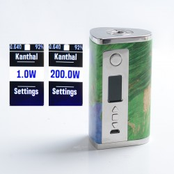 Authentic Ultroner Sphinx DNA250C 200W TC VW Vape Box Mod - Green, 1~200W, 2 x 18650 / 20700 / 21700, Evolv DNA250C Chipset