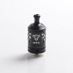Authentic ThunderHead Creations THC Tauren MTL RTA Vape Atomizer - Silver Black, 2ml, 24mm, 360' Variable Airflow Control System