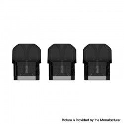 Authentic Wotofo Manik Mini Pod System Kit Replacement Mini Pod Cartridge - 3.0ml, M12 nexMESH Coil 0.6ohm (3 PCS)