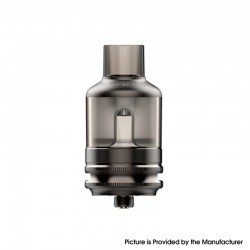 Authentic Voopoo TPP Tank Atomizer - Gun Metal, 5.5ml, Zinc Alloy + PCTG, 0.15ohm / 0.2ohm