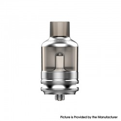 Authentic Voopoo TPP Tank Atomizer - Silver, 5.5ml, Zinc Alloy + PCTG, 0.15ohm / 0.2ohm