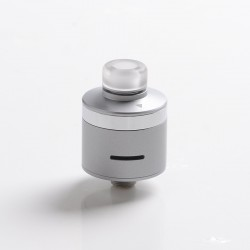 Authentic BP Mods Bushido V3 RDA Dripping Atomizer w/ BF Pin - Frosted Silver + Glossy Silver, Stainless Steel, 22mm Diameter
