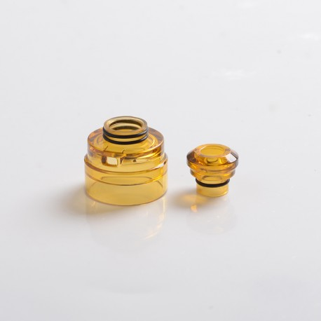 Authentic Yachtvape Claymore RDA Replacement Top Cap + Drip Tip - Translucent Amber