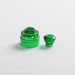 Authentic Yachtvape Claymore RDA Replacement Top Cap + Drip Tip - Translucent Green