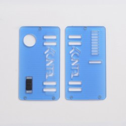 Replacement Front + Back Door Panel Plates w/ Black Button for dotMod dotAIO Vape Pod System - Blue, Acrylic (2 PCS)