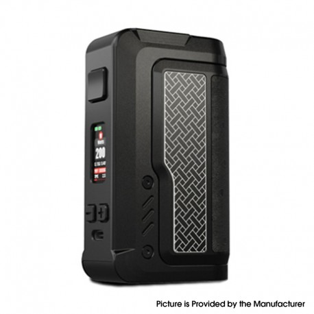 Authentic Vandy Vape Gaur-21 200W Dual 21700 Vape Box Mod - Ceramic Black, VW 5~200W, 2 x 18650 / 21700