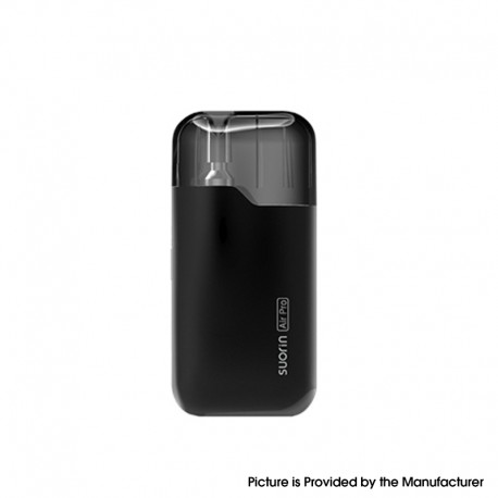 Authentic Suorin Air Pro 18W 930mAh Pod System Starter Kit - Black, 4.9ml Pod Cartridge, 1.0ohm