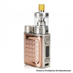Authentic Eleaf iStick Pico 2 75W VW Box Mod + GZeno S Tank Standard Version Kit - Rose Gold, 1~75W, 1 x 18650, 4.0ml, 0.8ohm
